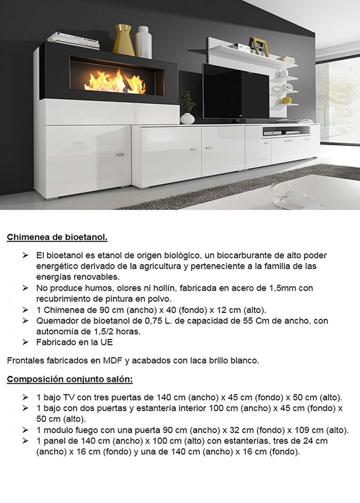 mueble salon olimpo conchimenea